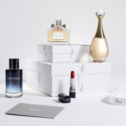 Dior changes the design of its website interface